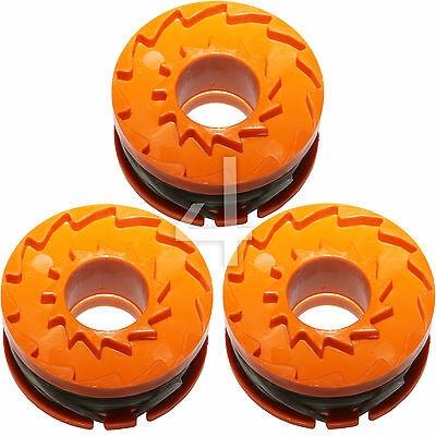 3 x Genuine ALM Trimmer Spool & Line for MacAllister MGTP 18Li Strimmers