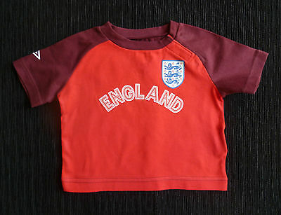 """Baby clothes BOY 3-6m UMBRO """"tailored in England"""" England football team t-shirt"""