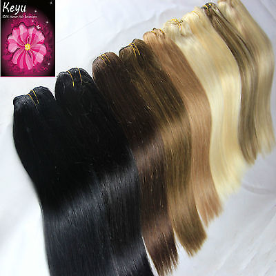 "100% Remy Straight Human Hair Weaving Weft Hair Extensions100g 16""-26"""