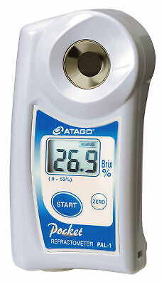 Atago PAL-1 Digital HandHeld Pocket Refractometer, 0.0 - 53.0% Brix Measurement