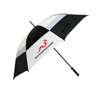 "Woodworm Windproof 60"" Double Canopy Golf Umbrella (Black/White)"