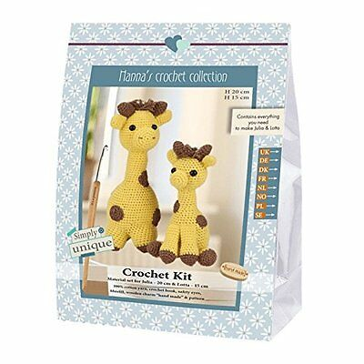 Go Handmade Julia 20cm & Lotto 15cm The Giraffes Crochet Needlework Complete Kit