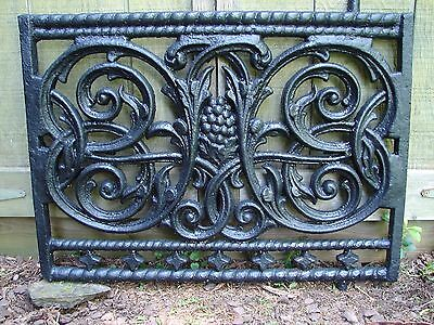 Early Antique Architectural Cast Iron Garden Gate w Hinge Pins & Latch