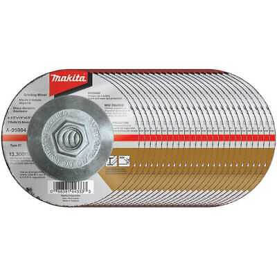 "25pk 4-1/2""x1/4""x5/8-11"" INOX Grinding Wheel 36 Grit Makita A-95984-25 New"
