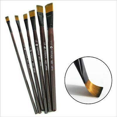New 6 pcs Nylon Brushes for Art Artist Paint Oil Watercolor Painting Supplies