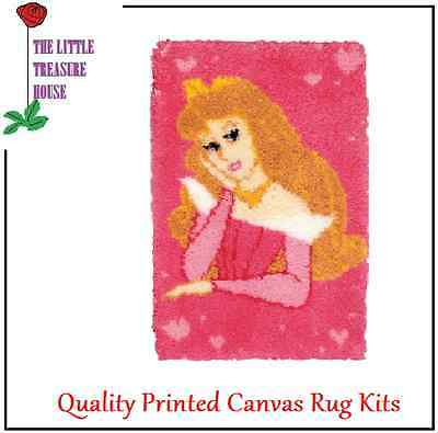 Princess Printed Canvas Latch Hook Rug Kit - Rug Making - Everything included
