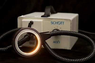 Schott ACE I EKE Adjustable Rim Light Fiber Optic Illuminator