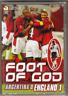 Foot Of God - 2002 Fifa Worl Cup - Argentina 0 England 1 - New & Sealed R2 Dvd