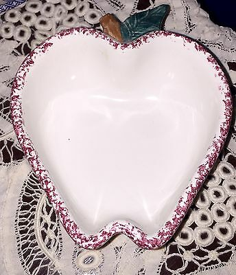 Vintage Chaparral Pottery SMALL Serving/Cereal Dish - Apple Shaped - Made in USA