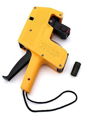 MX-5500 8 Digits Yellow Price Tag Gun 500 White w/ Red lines labels 1 ink