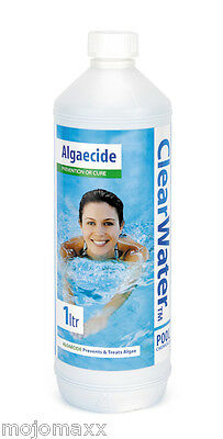Clearwater 1Ltr Algaecide Chemical For Swimming Pool Hot Tubs & Lay-Z-Spa Ch0006
