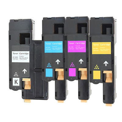 4Pk Toner Set for Xerox Phaser 6000 6010 6010N WorkCentre 6015 6015N 6015NI