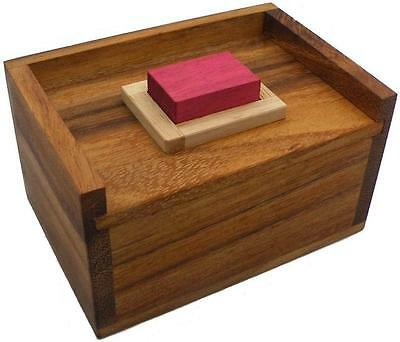 Red Wood Block Packing Problem - Brain Teaser Wooden Puzzle