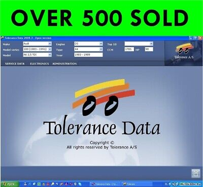 Tolerance Data 2009.2 Workshop Manual ( Download Version)