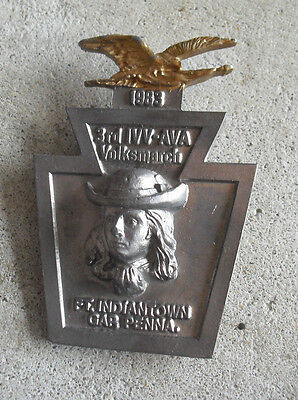 Vintage 1983 AVA Volksmarch Ft Indiantown Gap PA Medal Pin