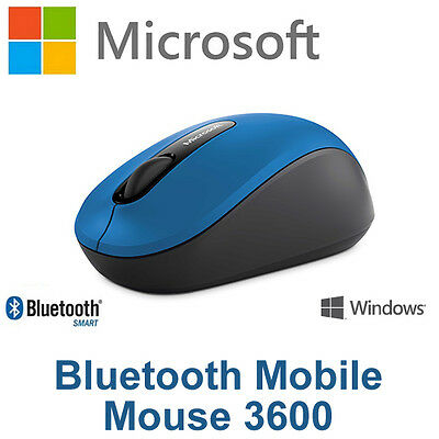 Microsoft Bluetooth Mobile Mouse Azul PN7-00025 Wireless for Laptop Tablet PC