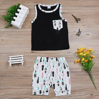 Cross Baby Toddler Boys t Shirt + Short Pants Outfit Clothes Set Size 0 1 2 3