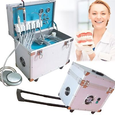 Dental Portable Delivery Unit/System Rolling Case Curing Light Ultrasonic Scaler