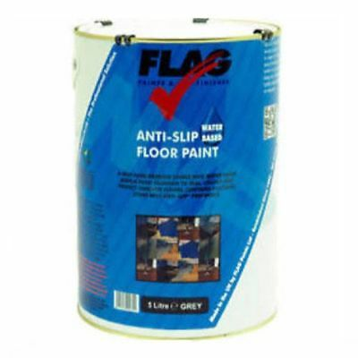 Flag Water Based Anti Slip Floor Paint Non Slip - 5 Litre - 5 Colours