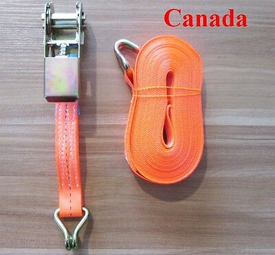 1 Inch x 26 ft. Heavy Duty Ratchet Tie Down Strap 1102 lbs. Dual J-Hook