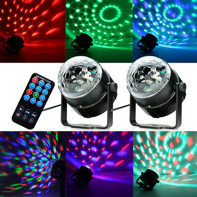 LED Disco DJ Ball Stage Lighting Voice-activated RGB Crystal Magic DMX512 Light