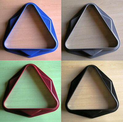 Pool Table Triangles in Red, Black, Grey or Blue - Durable & Well Made UK Rack