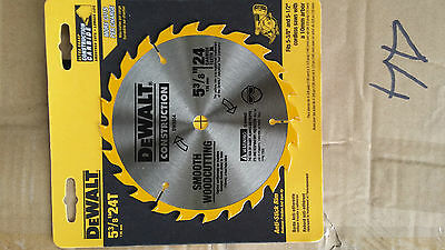 "DeWALT DW9054 24T 5 3/8""/ 136mm smooth woodcutting CIRCULAR SAW BLADE 10mm bore"