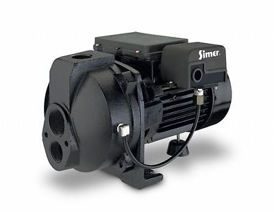 Simer 3207C 3/4 HP Convertible Deep Well Jet Pump, Black