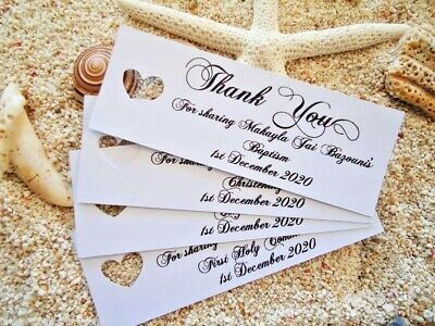 10 White Gift Tags Christening Confirmation Baptism Holy Communion Personalised