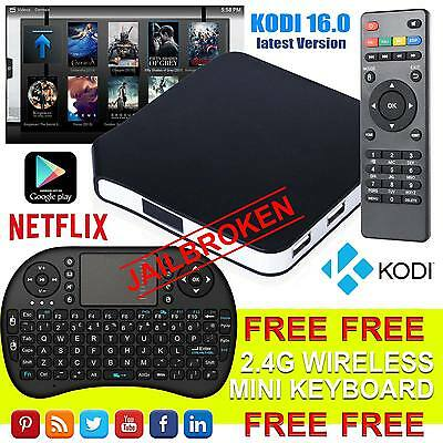 New MX Pro Android 4.4 TV Box Fully Loaded Quad Core KODI XBMC Free Live Movies