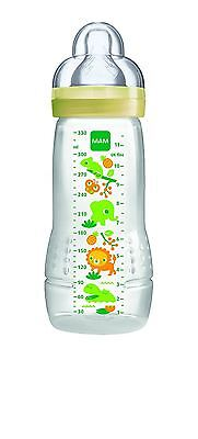 MAM 4+ Months 330ml Baby Bottle Yellow Animals