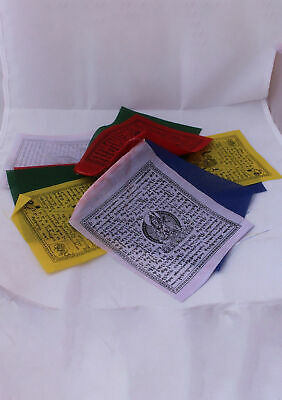Tibetan Deities with Windhorse Cotton Prayer Flags-Buddhist Flags-Tibet Flags