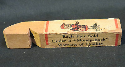 Vintage Peters Weatherbird Shoes Advertisement Wood Whistle Works