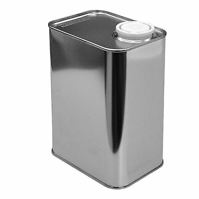Metal canister, 1 L tin plate square bidon with spout and cap (23004)