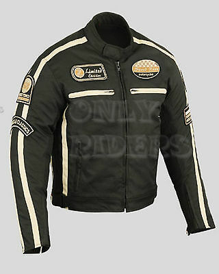 Men's Motorcycle Jacket, MC,  Textile Jacket, Armour Jacket, Biker, Scooter Bike