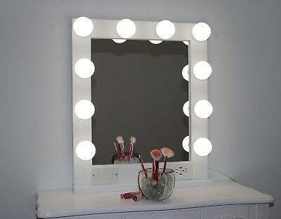 Hollywood Style Glamour Vanity Mirror, Plug-In And Dimmer, 24 X 28