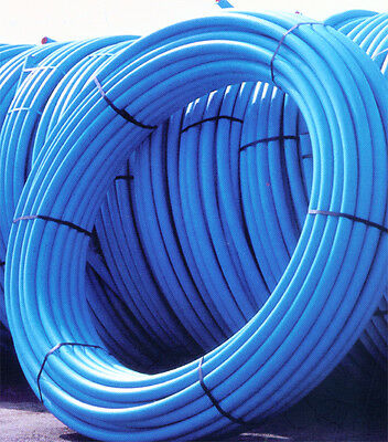 Coil Blue water mains MDPE pipe roll 20mm 25mm 32mm x 25mtr 50mtr 100mtr 150mtr