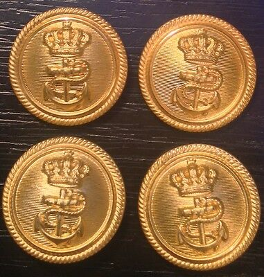 Kingdom of Yugoslavia button navy lot of 4 buttons