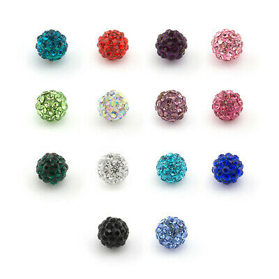Spare SHAMBALLA Multi Crystal Disco Gem Balls Suitable For All Piercing Types