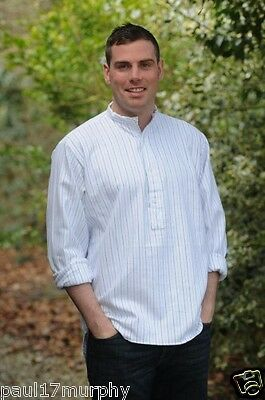 Ladies/Gents Grandfather/Grandad Collarless Shirts Cotton Irish/Ireland Classic