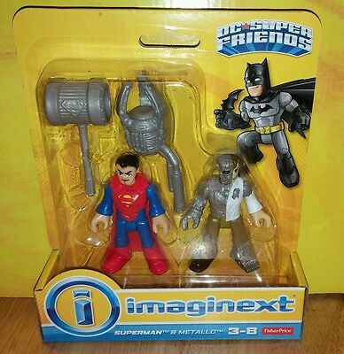 NEW Fisher-Price DC JUSTICE LEAGUE Imaginext SUPERMAN & METALLO Figure Pack