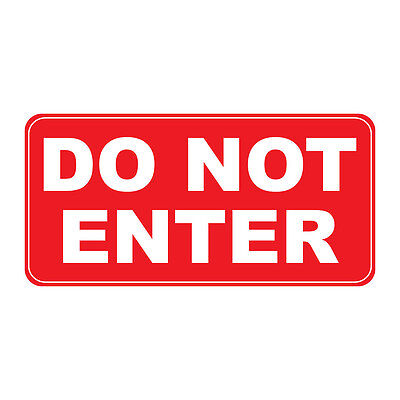 Do Not Enter Red Retro Vintage Style Metal Sign - 8 In X 12 In With Holes