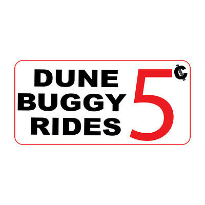 c1bb11ae3e8d60 Dune Buggy Rides 5C Retro Vintage Style Metal Sign - 8 In X 12 In With