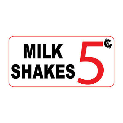 Milk Shakes 5C Custom Retro Vintage Style Metal Sign - 8 In X 12 In With Holes