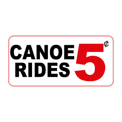 0b6613446e30fb Canoe Rides 5C Custom Retro Vintage Style Metal Sign - 8 In X 12 In With