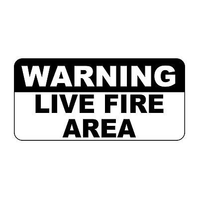 Warning Live Fire Area Retro Vintage Style Metal Sign - 8 In X 12 In