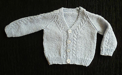 Baby clothes BOY newborn 0-1m blue professionally knitted cardigan SEE MY SHOP!!