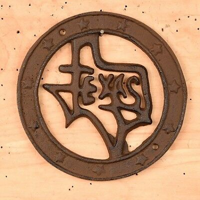 State of Texas and Stars Cast Iron Wall Plaque