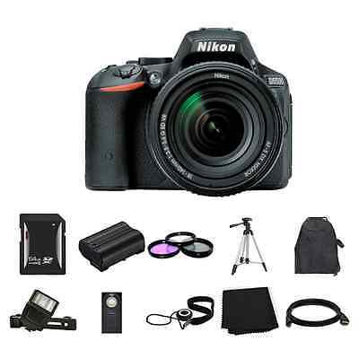 Nikon D5500 DSLR Camera w/18-140mm Lens 64GB Full Kit