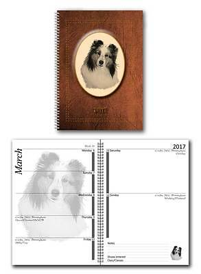 Shetland Sheepdog Sheltie 2017 Large Dog Show Diary with Show Dates in 7 colours